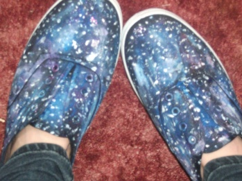 alt=<galaxy hand-painted shoes>