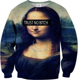 mona lisa sweatshirt