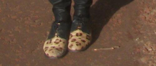 Leopard print brogues