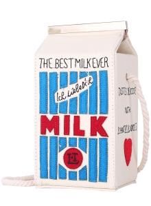 alt=<Romwe milk carton bag>