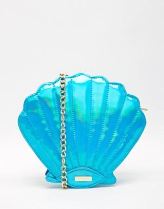 alt<skinny dip blue seashell bag>