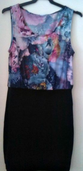 alt=<floral two-in-one dress>