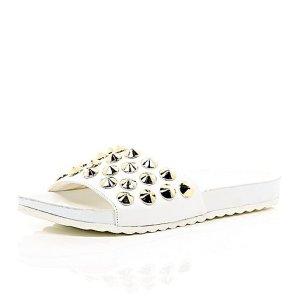 alt=<white slide shoes>