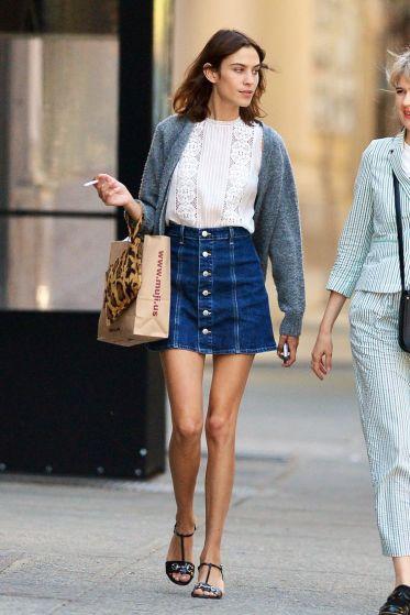 alt=<alexa chung a line denim skirt>