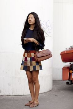 alt=<patchwork skirt multicolour>