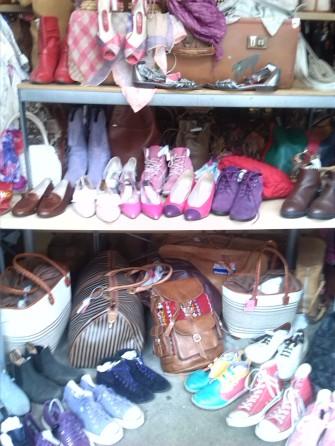 alt=<vintage shoes and handbags>