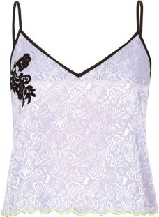 "alt=""purple-lace-jacquard-cami-pajama-top"""