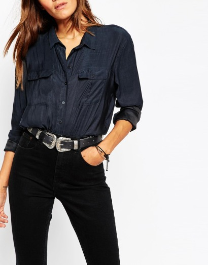 asos double buckle belt