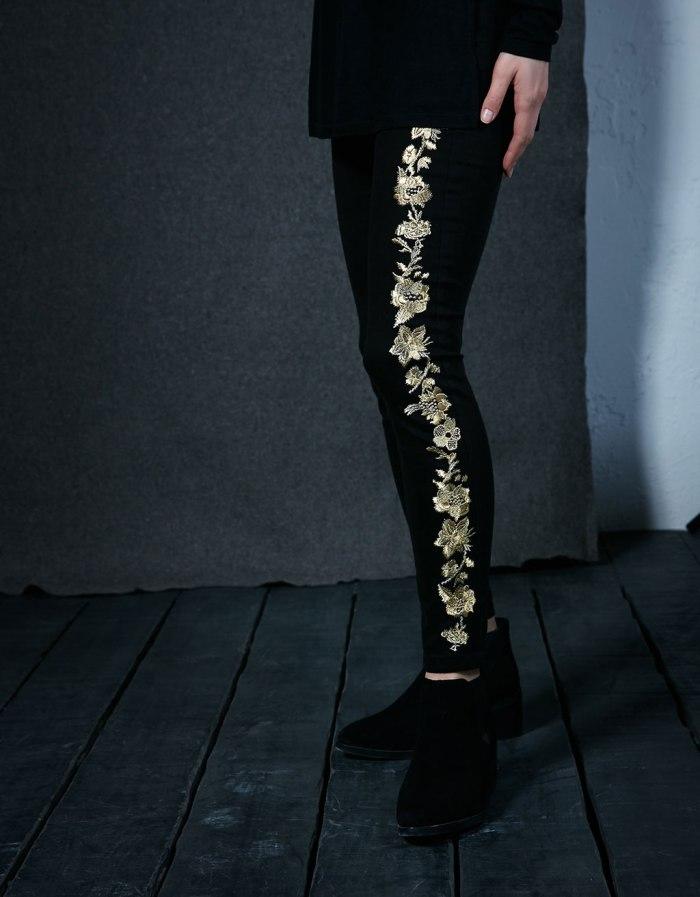 bershka gold jeans