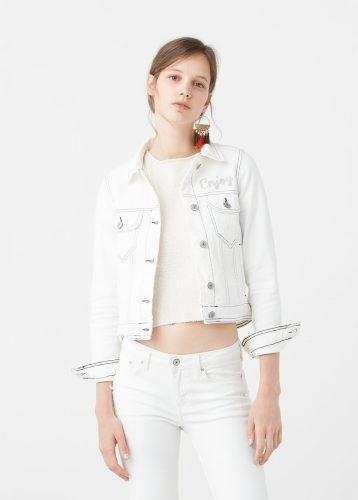 White denim jacket. Pic: Mango.com