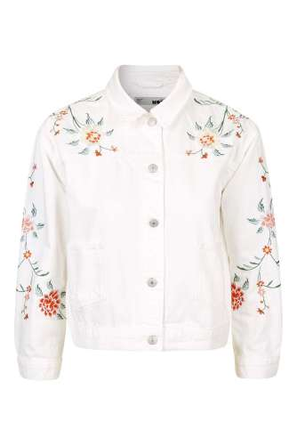 Embroidered jacket. Pic: Topshop,com