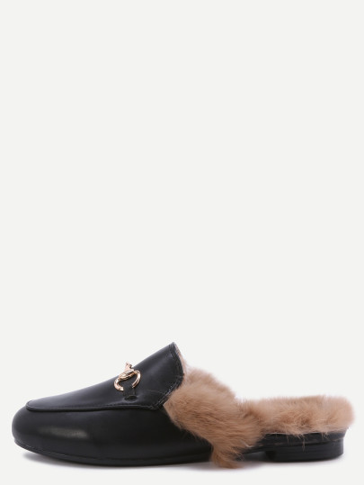 Furry backless loafers. Pic: Shein.com