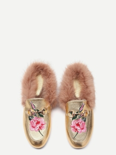 Gold loafers. Pic: Shein.com