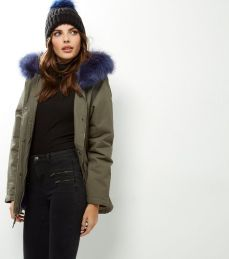 Blue Fur Hood Parka. Pic: New Look.com
