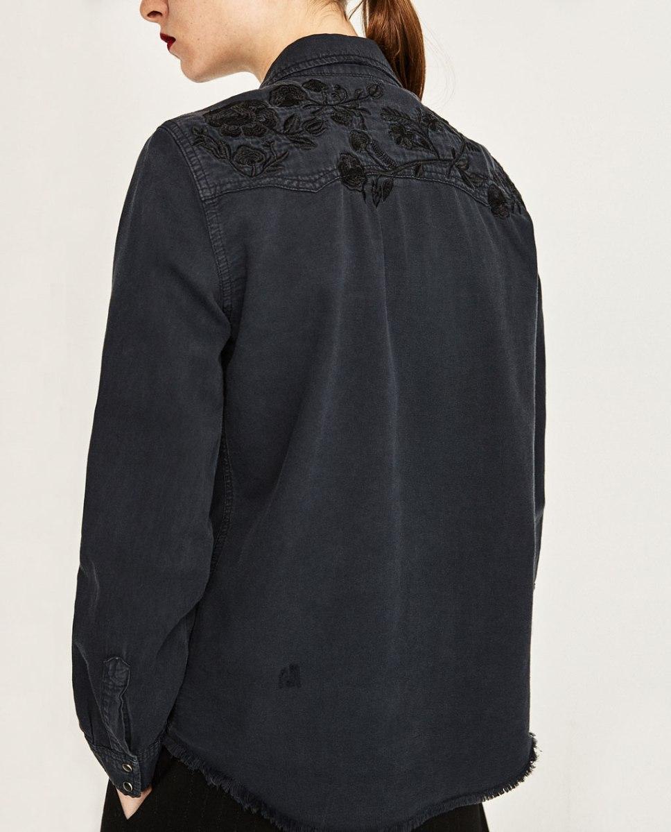 Grey denim shirt. Pic: Zara.com