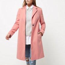 Pink overcoat. Pic: RiverIsland.com