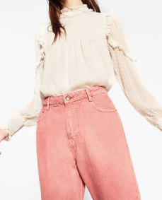 Pink mom fit jeans. Pic: Zara.com