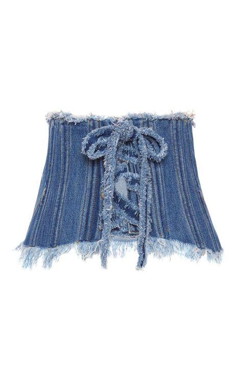 alt=< denim corset belt>
