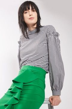 Long sleeve blouse. Pic: Topshop.co.uk