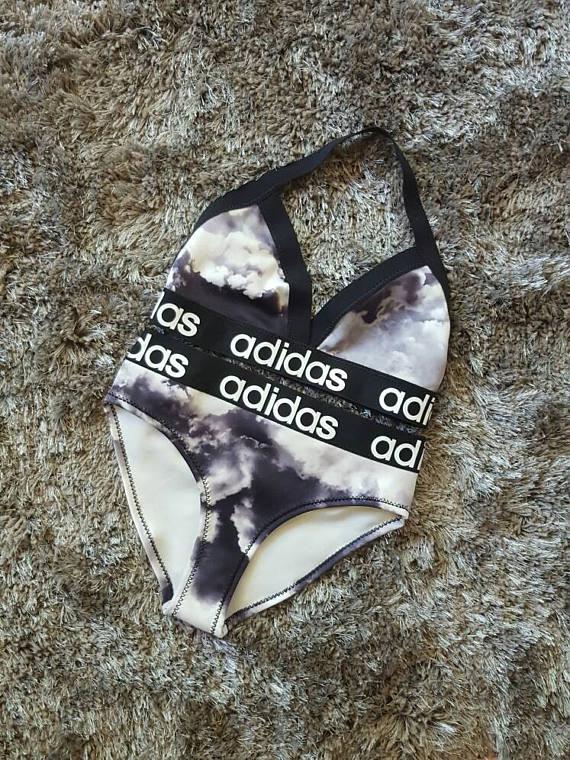 alt=Reworked adidas bikini>