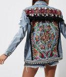 river island embellished denim jacket