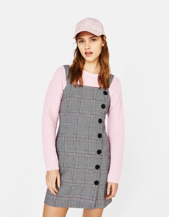 alt=<check-pinafore-dress>