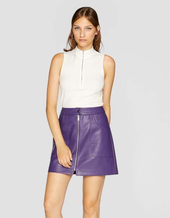 alt=<faux-leather-skirt>
