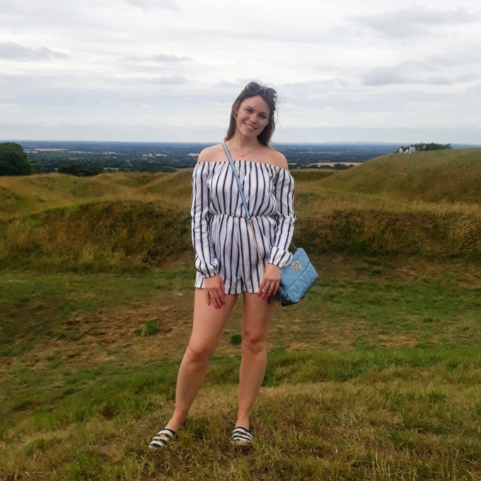 alt=,striped playsuit>